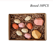 Wood Rock Set Balancing Blocks Natural Wood Toy