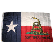 TEXAS - Don't Tread on Me Flag (Gadsden) - 3 ft x 5 ft