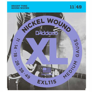 D'addario EXL115 Nickel Wound Electric Guitar Strings