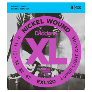 D'Addario EXL120 Nickel Wound Electric Guitar Strings