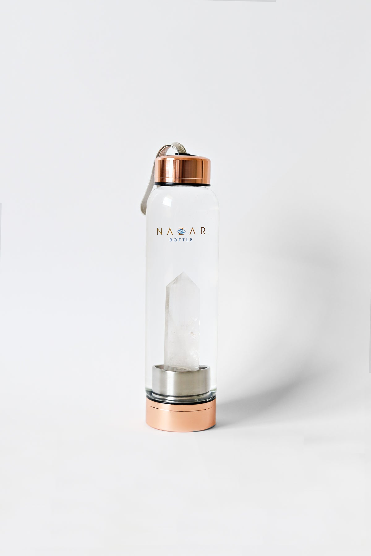 Clear Quartz Rose Gold Bottle