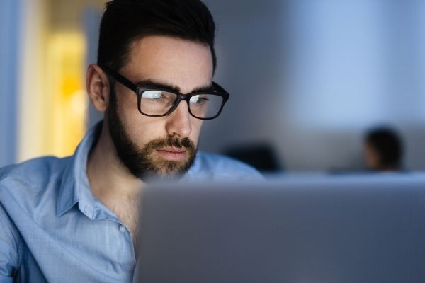 man concentrating