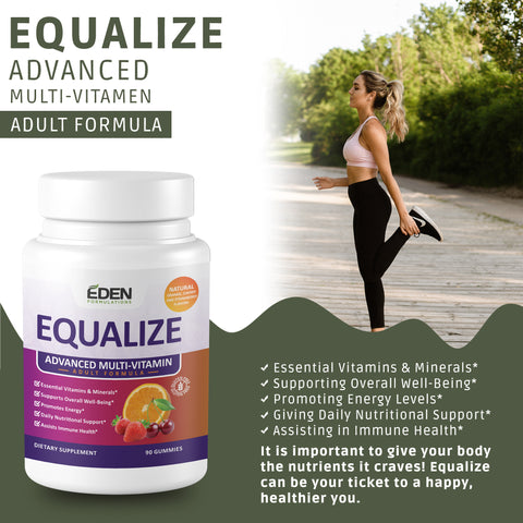 EQUALIZE : 100% NATURAL ADULT MULTI-VITAMIN in a GUMMY!