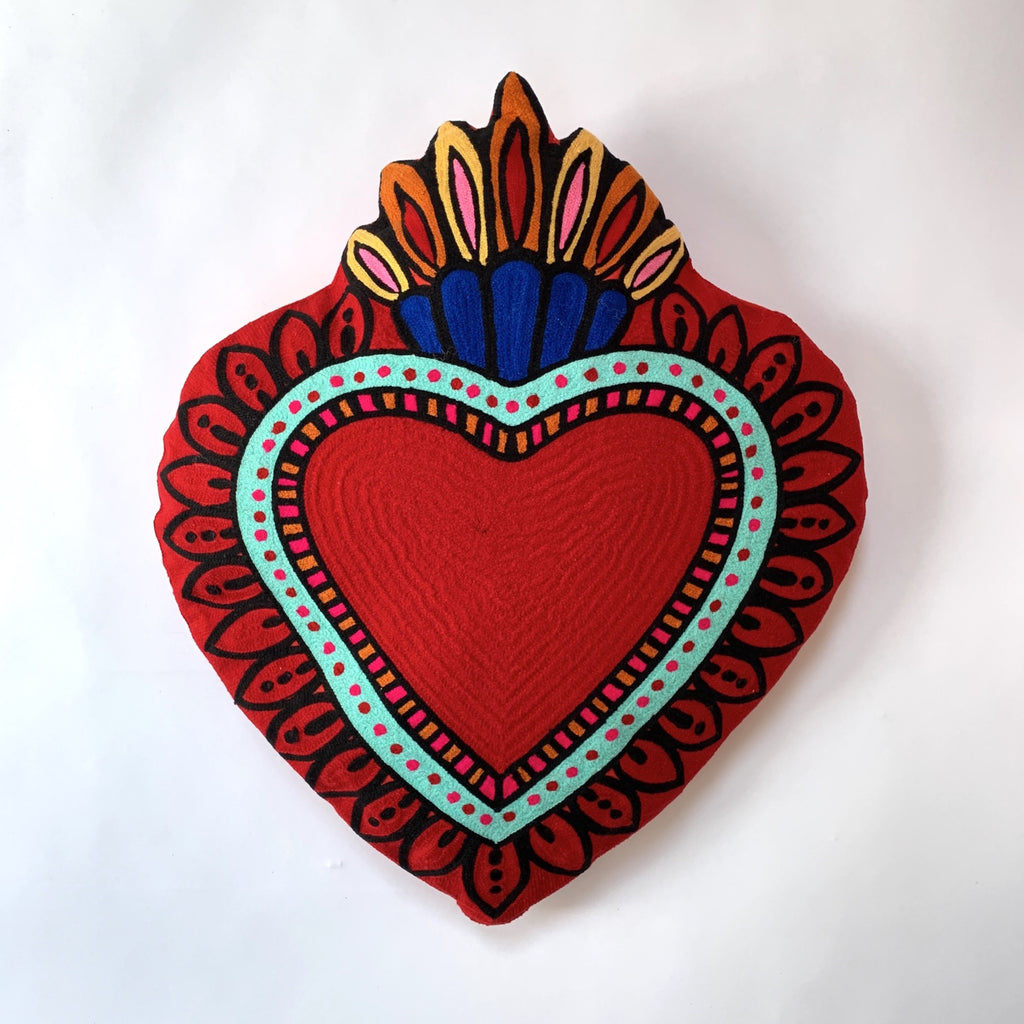 Kitsch kitchen sacred heart cushion red.jpg