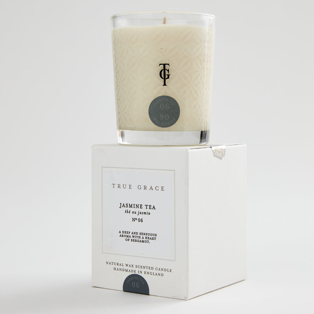 True grace scented candle jasmine tea white box classic jpg