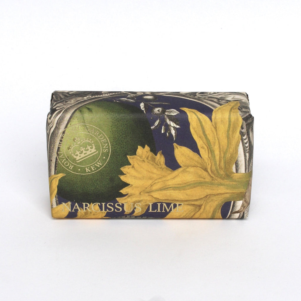 Kew Gardens Soap Vegetable Oil Narcissus Lime jpg