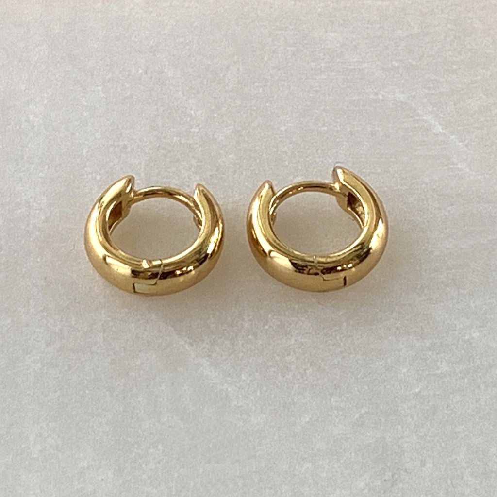 Scream pretty chubby huggies gold plates silver hoops jps