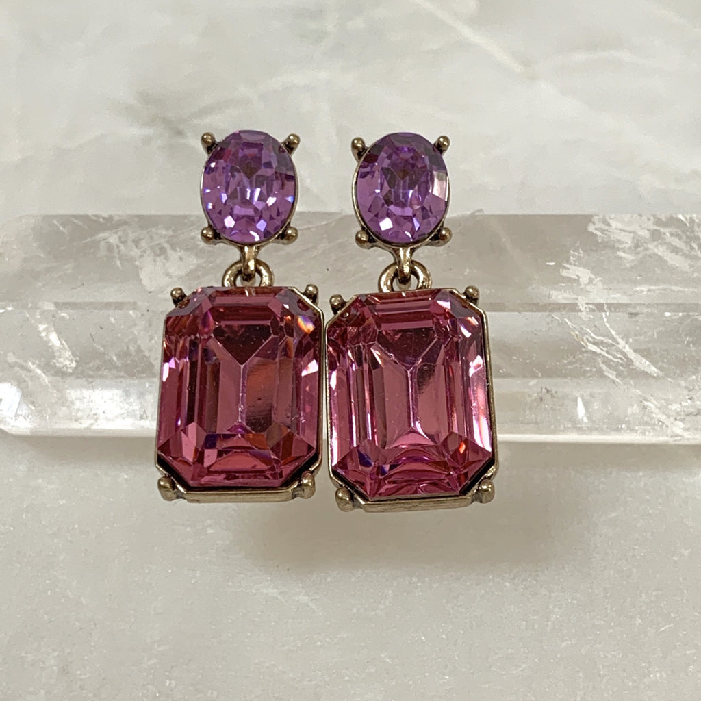 Pink jewel drop earring.jpg