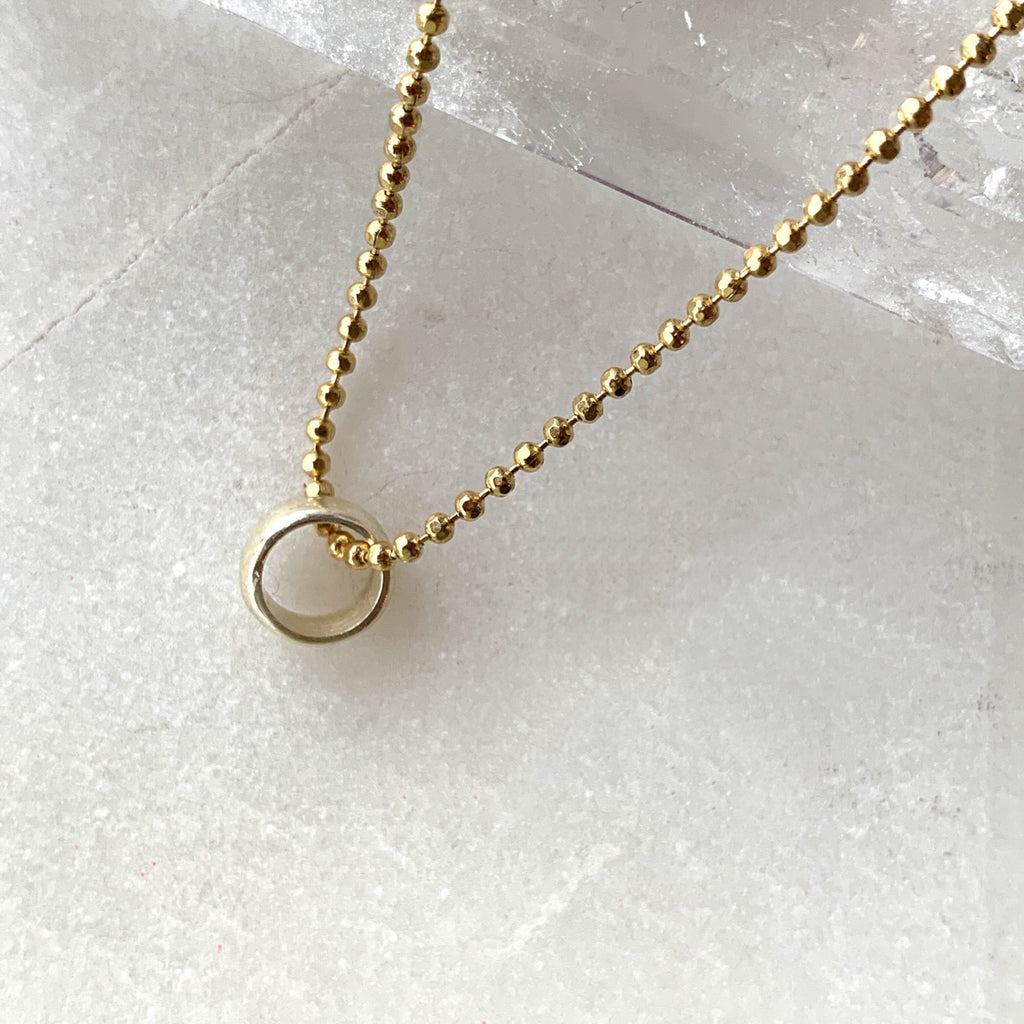 Silver Ring Gold Plated Chain Necklace .jpg