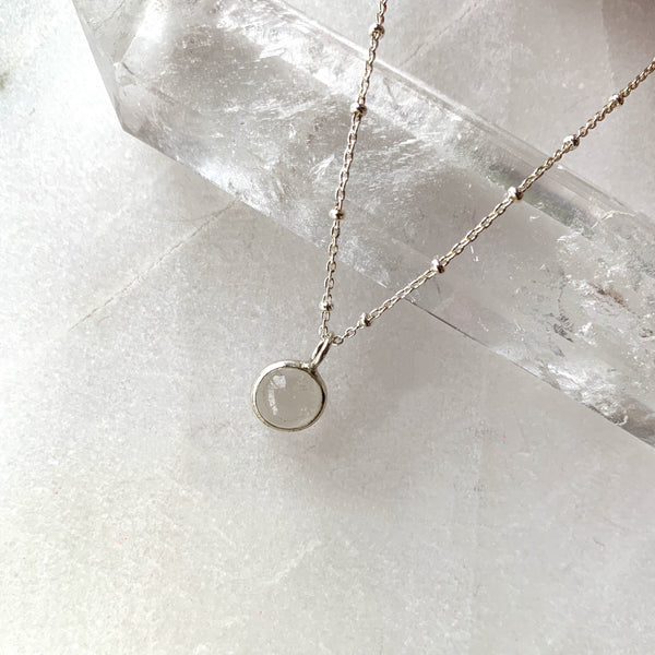 Crystal Orb Necklace Silver Chain .jpg