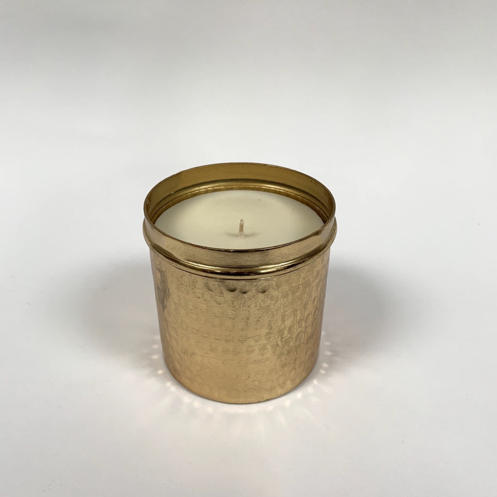 Bombay duck love candle gold hammered Tin .jpg