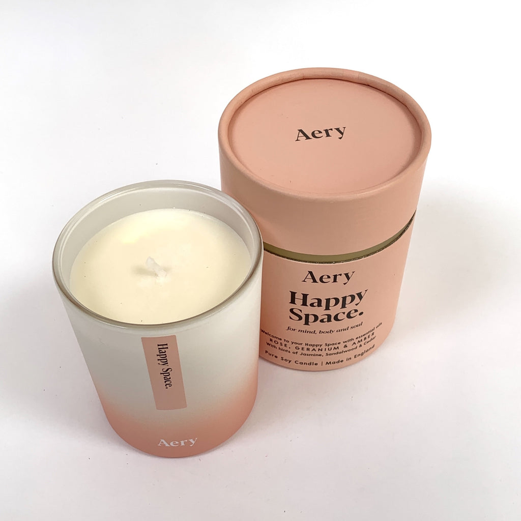 Aery happy space scented candle