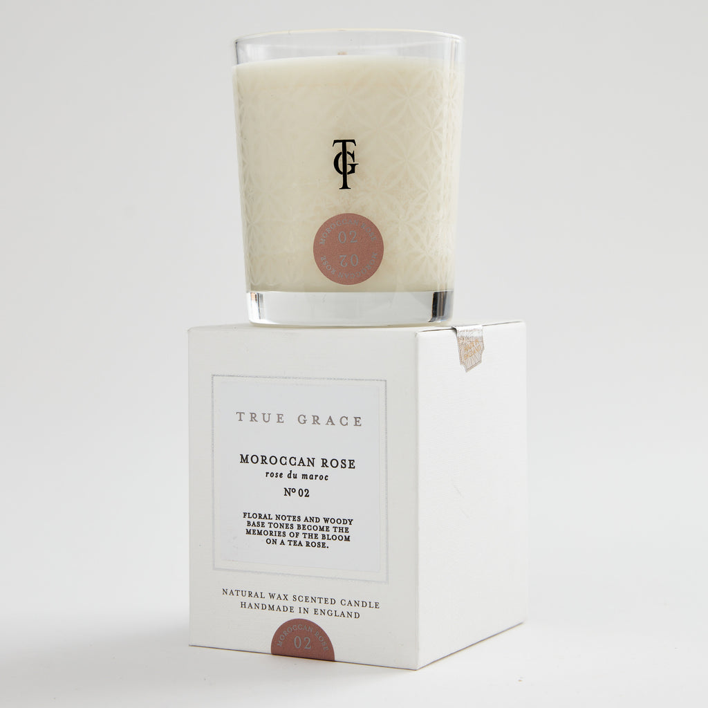 True grace scented candle Moroccan rose white box jpg