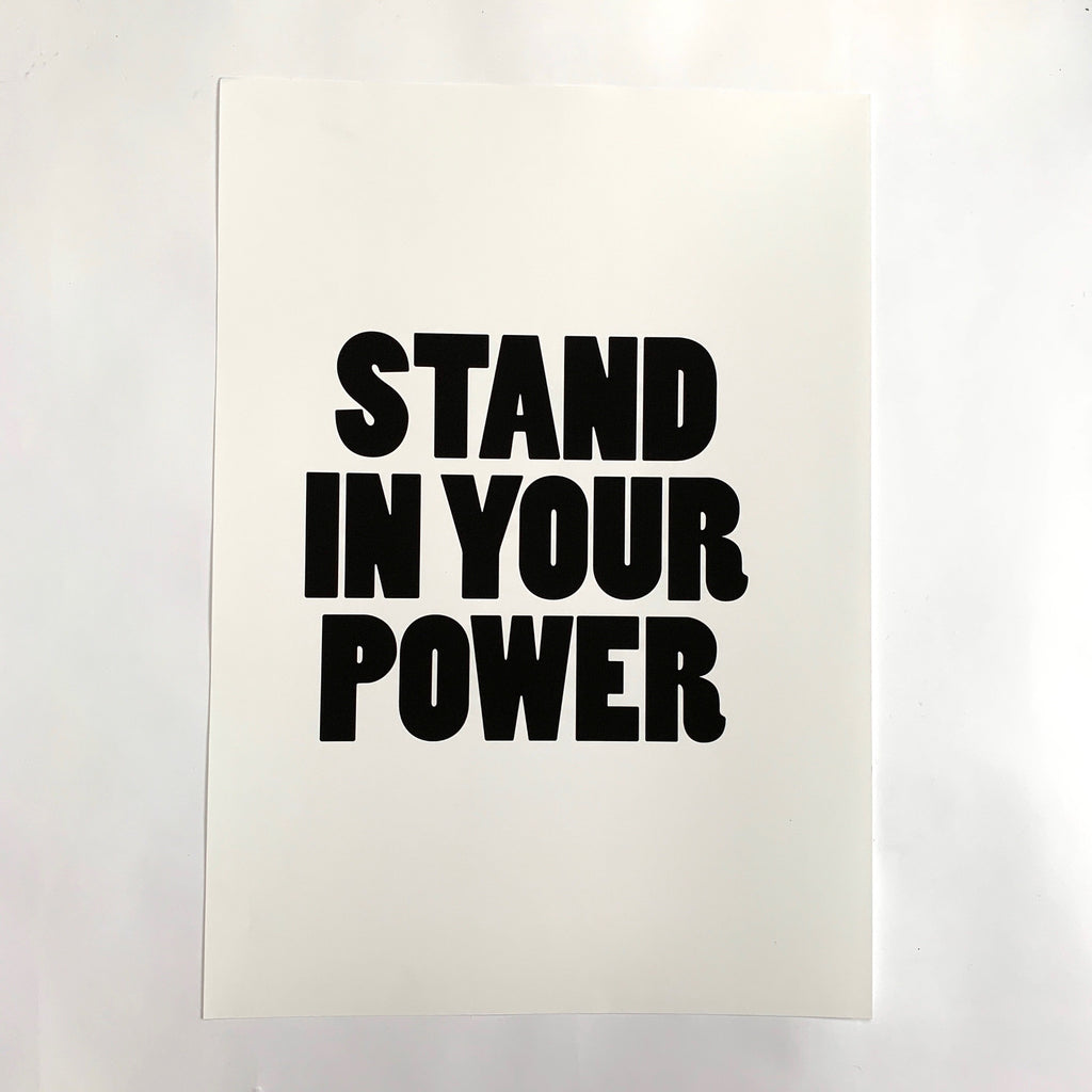 'Stand In Your Power' Poster