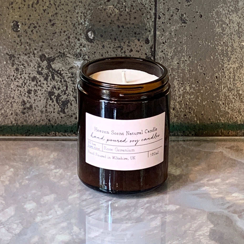 rose geranium soy heaven scent candle jpg