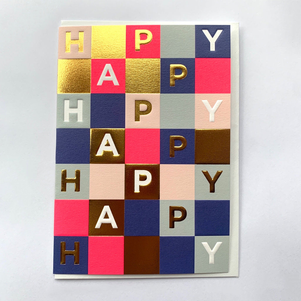Happy Gold Tile Greeting Card.jpg