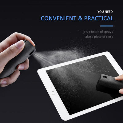2 In 1 Portable Phone PC Screen Cleaner Microfiber Cloth Set Cleaning Artifact Storage Magic Glasses Computer Screen Cleaner New