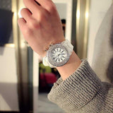led Flash Luminous Watch Personality trends students lovers jellies woman men's watches 7 color light WristWatch