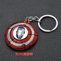 2019 Marvel The Avengers Keychain Thor's Hammer Thanos Gauntlet Captain America Shield Hulk Batman Mask Key Ring Wholesale