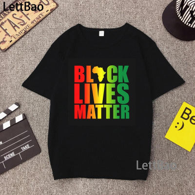 Black Lives Matter BLM Top Women I Can't Breathe Black Women's T-shirt Activist Movement Clothing Woman Clothes