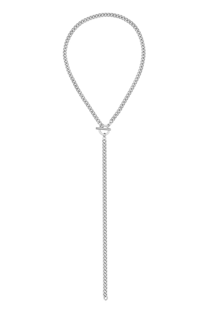 FIVE and TWO LANE CHUNK CHAIN NECKLACE - cottonjunkies