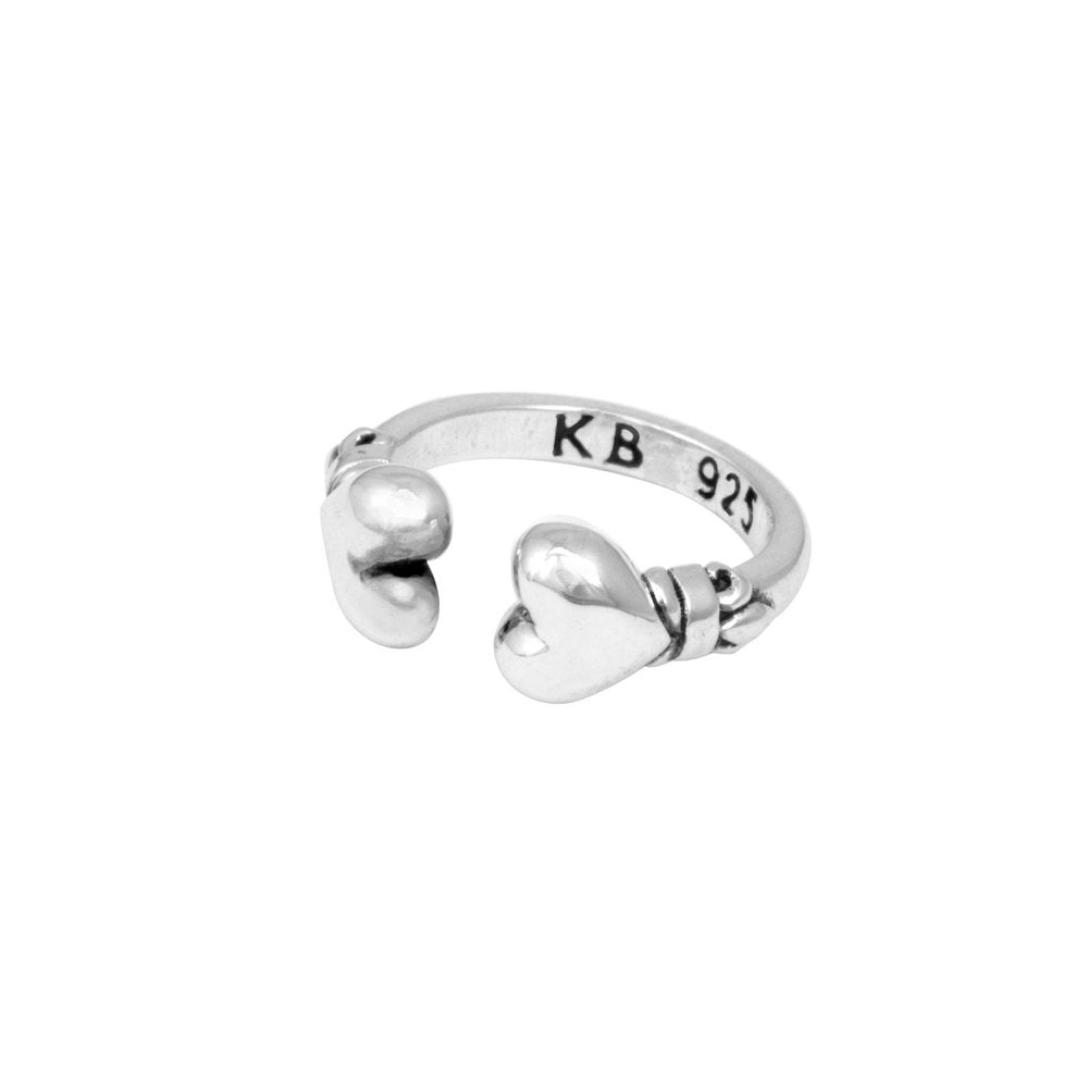 OPEN END HEARTS RING by King Baby - cottonjunkies