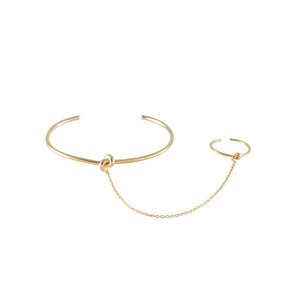 KNOT GOLD HAND CHAIN - cottonjunkies