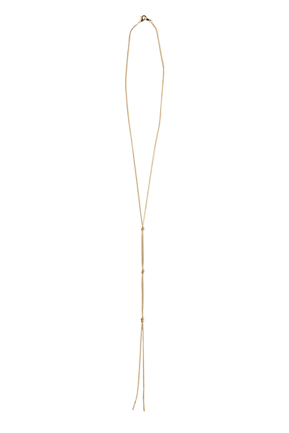 FIVE and TWO RAMONA LARIAT NECKLACE ROSE-GOLD - cottonjunkies