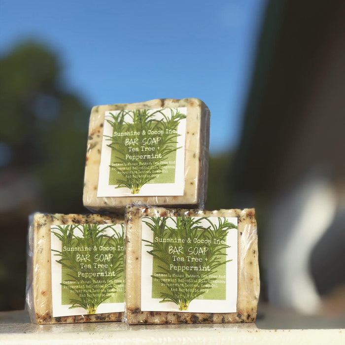 Tea Tree + Peppermint Bar Soap