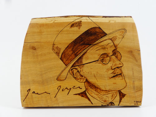 Wood Burning James Joyce Craft Gift