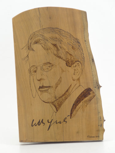 Wood Burning W.B. Yeats Gift Craft