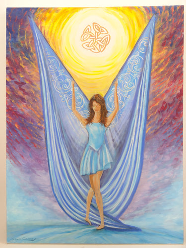 Celtic Lady - Large Canvas Painting
