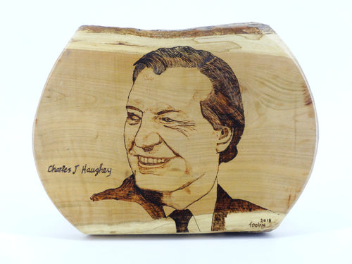 Wood Burning Charlie Haughey