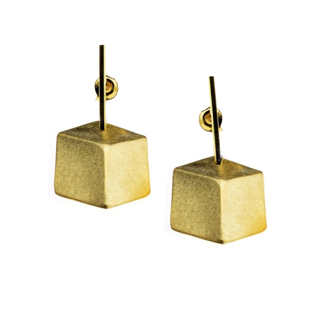Beata Earrings Cube Vermeil Drop Er