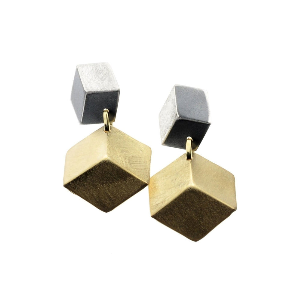 Beata Earrings Sterling & Vermeil 3D Earrings