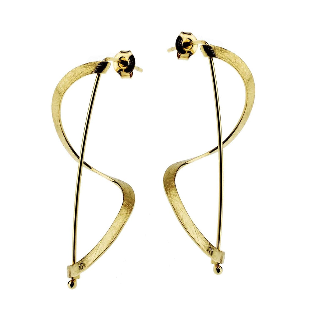 Beata Earrings Vermeil Swirl Er