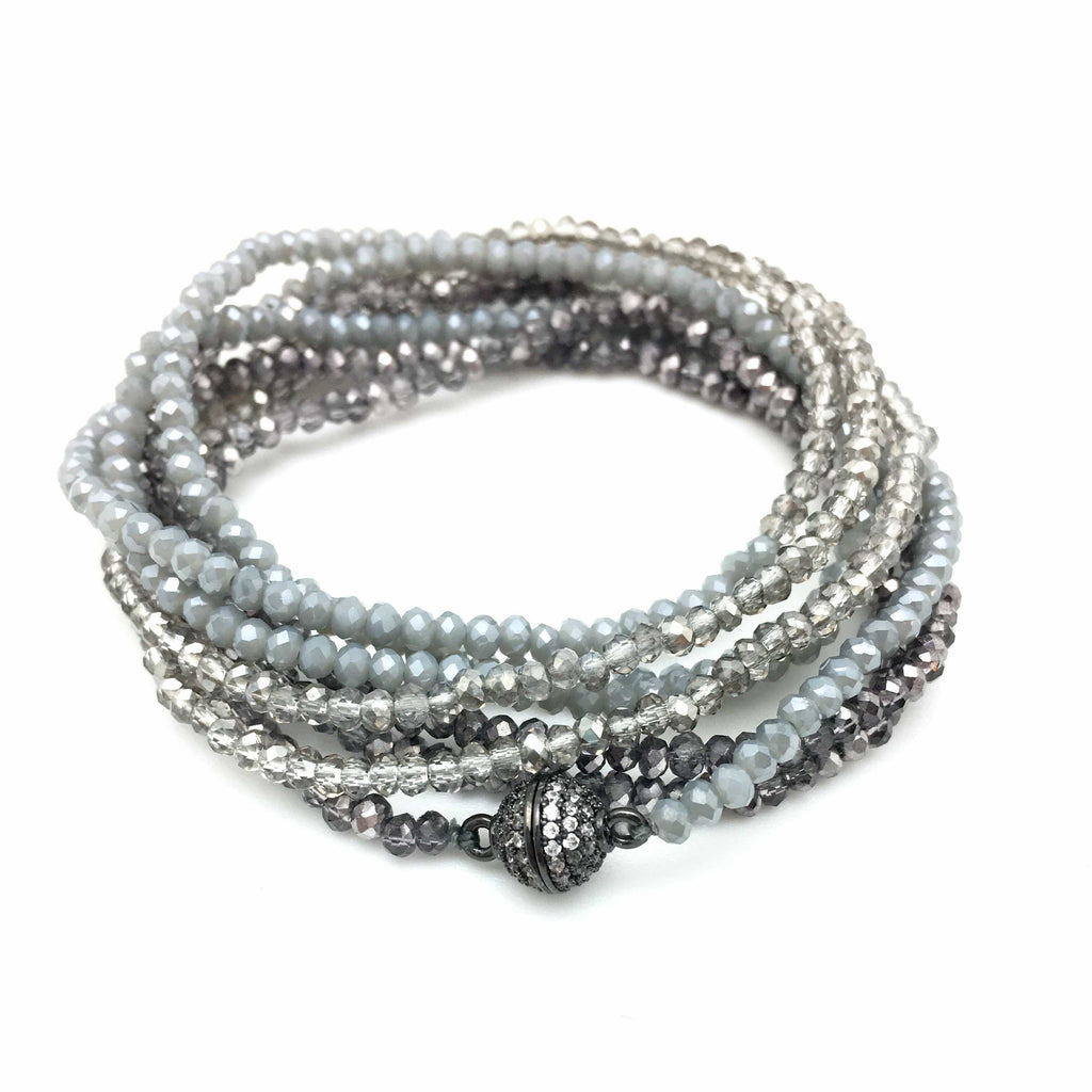 In2Design Bracelets Petra Smoky Denim Bracelet/Necklace