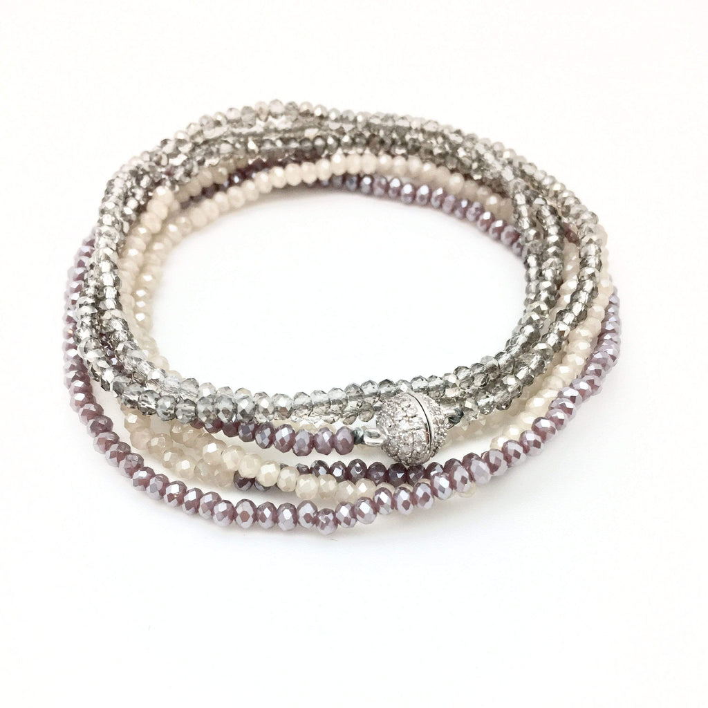 In2Design Bracelets Petra Smoky Plum Bracelet/Necklace
