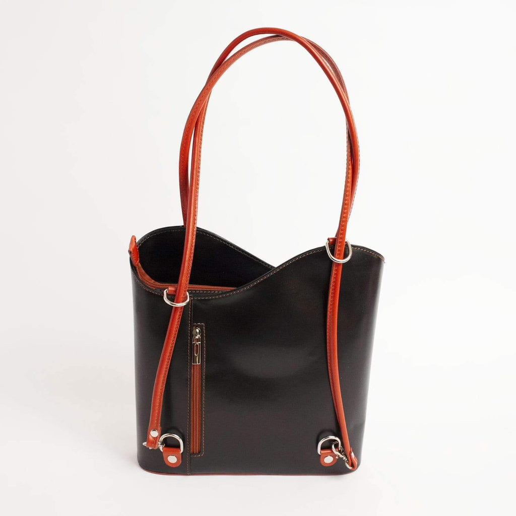 Italian Leather Leather Goods Musetta Black Shoulder Bag
