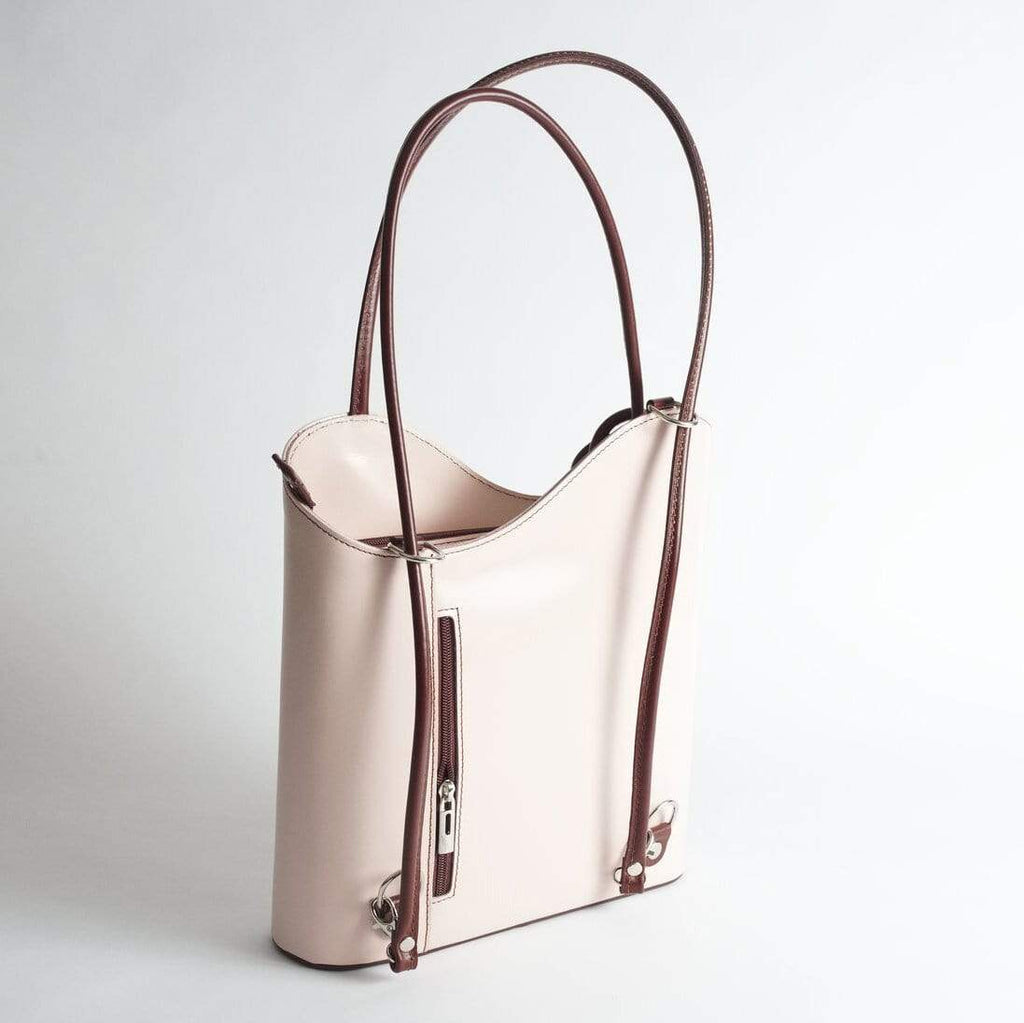 Musetta Cream Shoulder Bag/Backpack