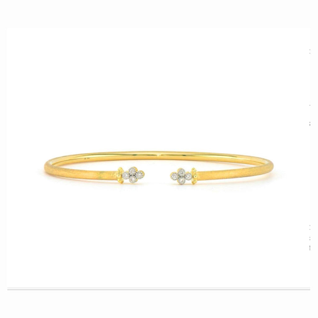 JudeFrances Bracelets Open Diamond Quad 18k Bracelet