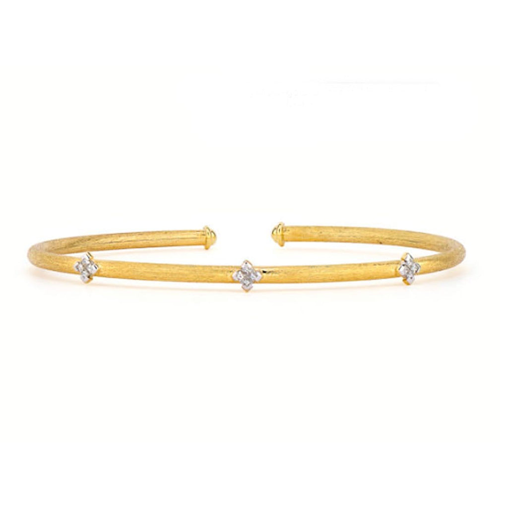 JudeFrances Bracelets Princess Diamond Flexible Bangle