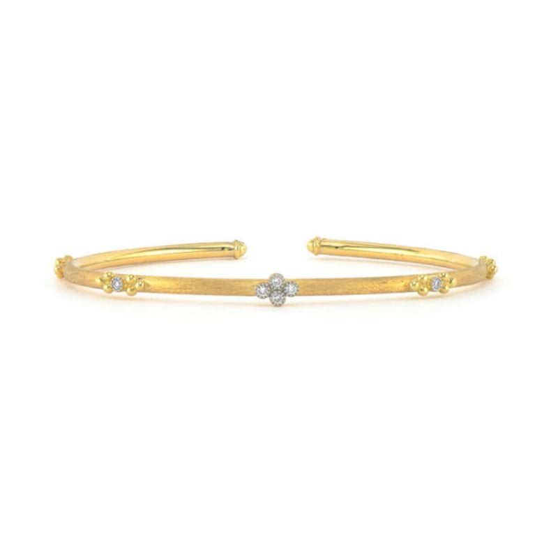 JudeFrances Bracelets Quad Flexible Brushed 18K Bangle