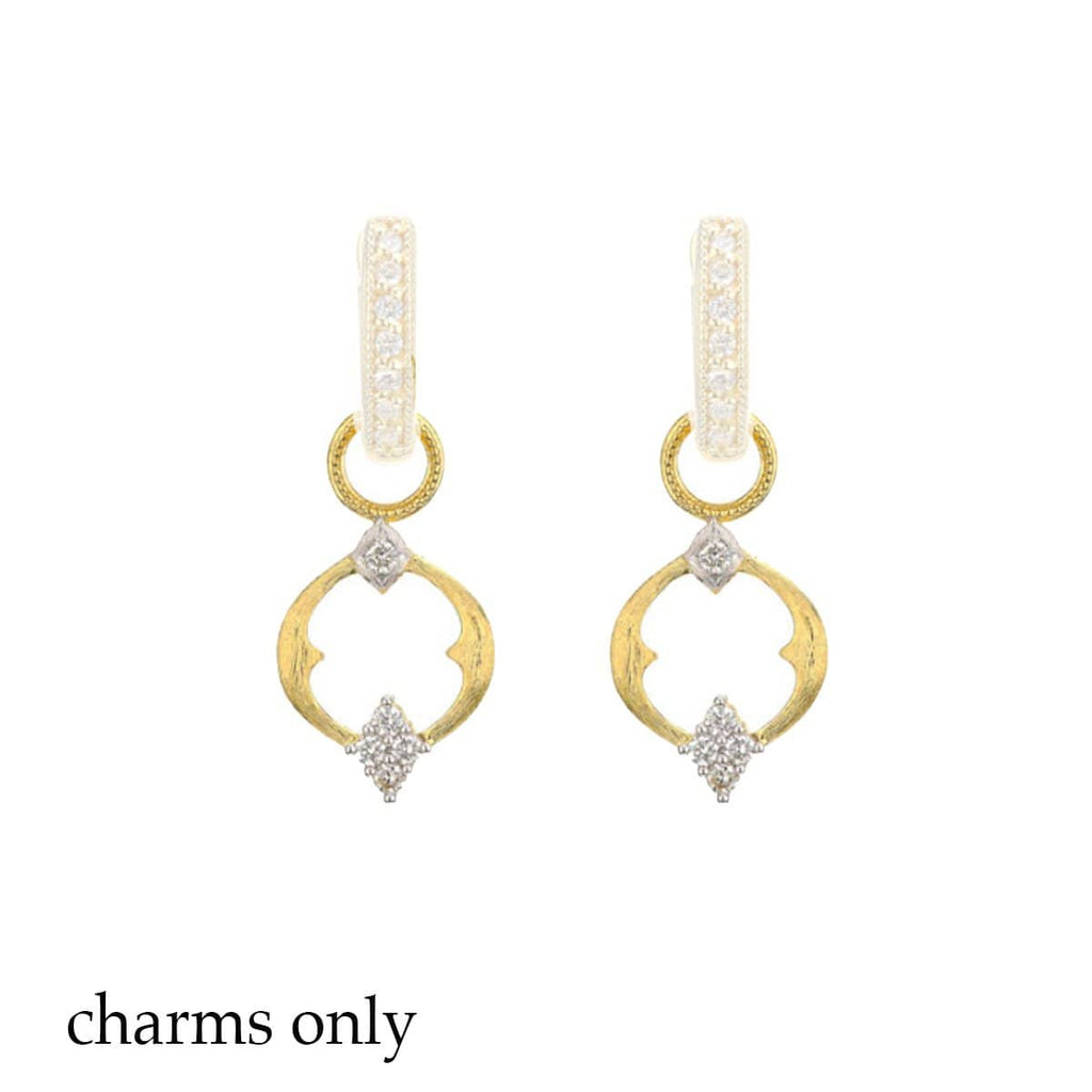 JudeFrances Earring Charms 18k & Diamond Open Circle Earring Charms