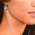 JudeFrances Earring Charms Blue Topaz Wrapped 18K Charms