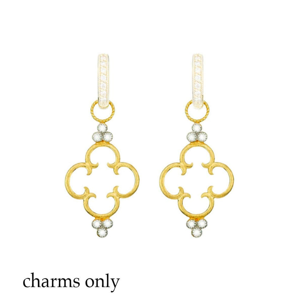 JudeFrances Earring Charms Clover 18k Diamond Earring Charms