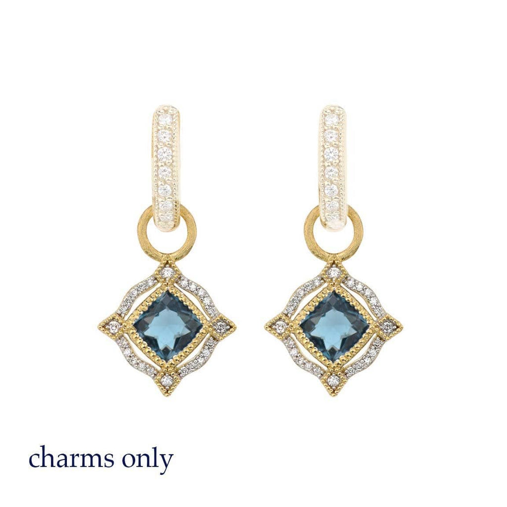 JudeFrances Earring Charms Framed Topaz 18k Earring Charms