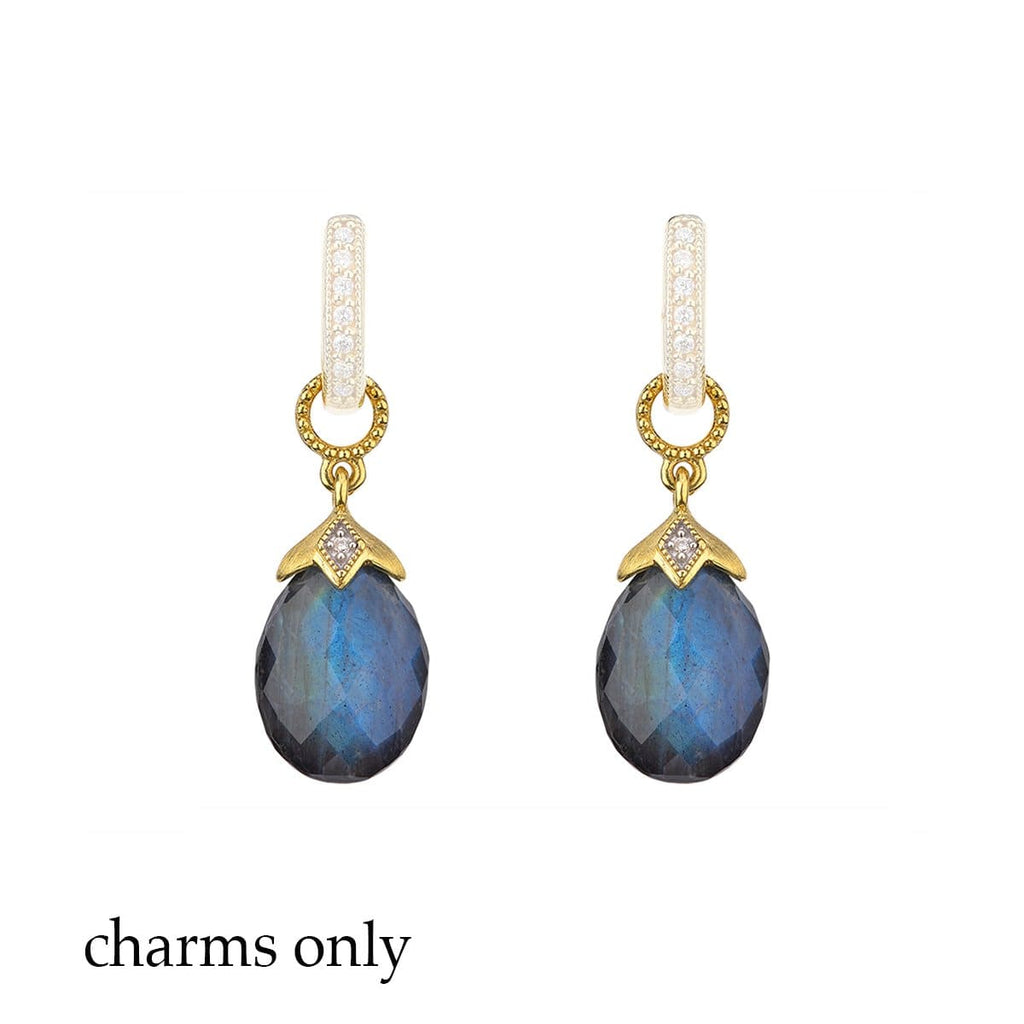 JudeFrances Earring Charms Labradorite Doublet 18k Earring Charms