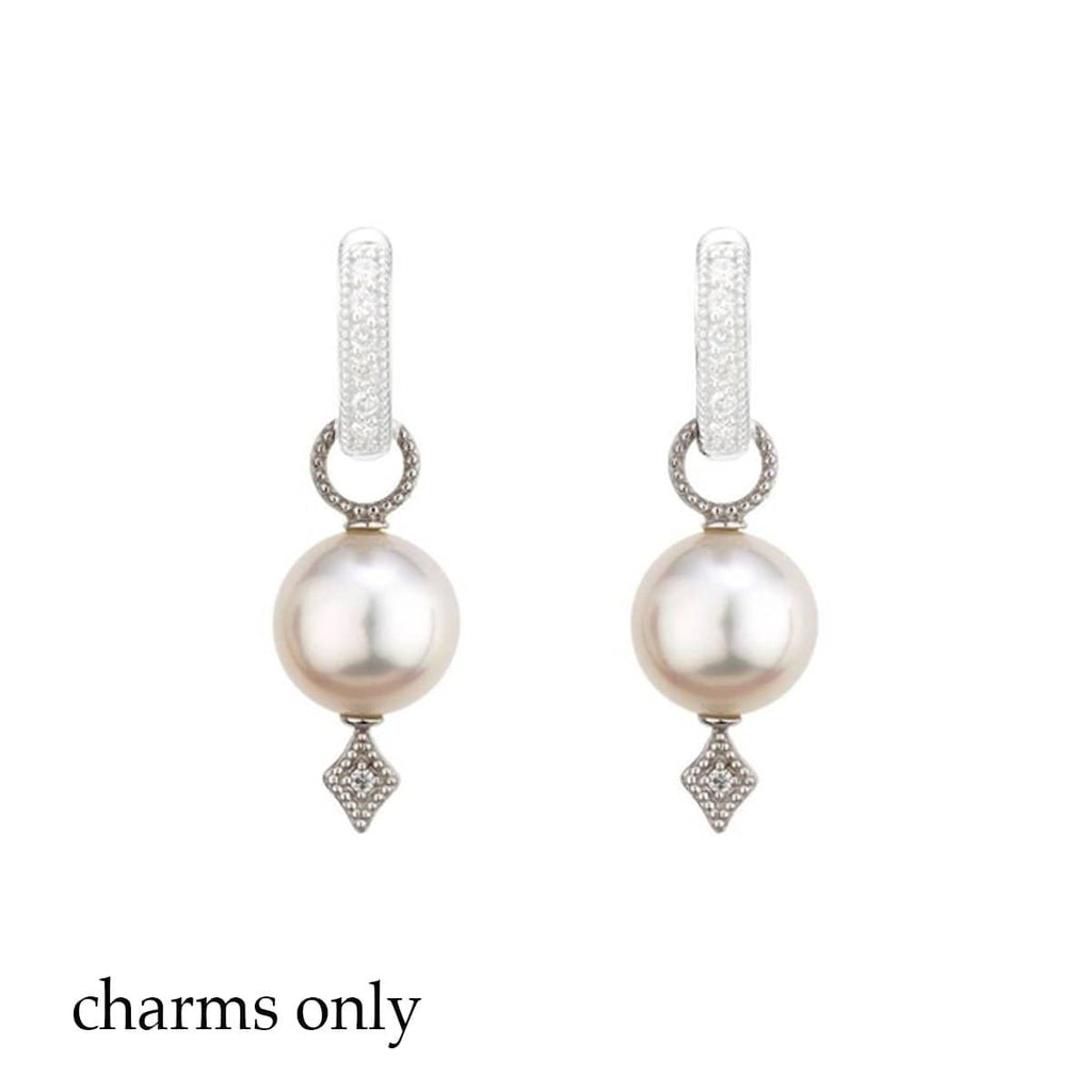 JudeFrances Earring Charms Lisse Pearl 18k Earring Charms