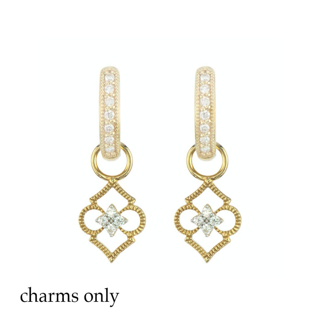 JudeFrances Earring Charms Moroccan Open Clover Earring Charm